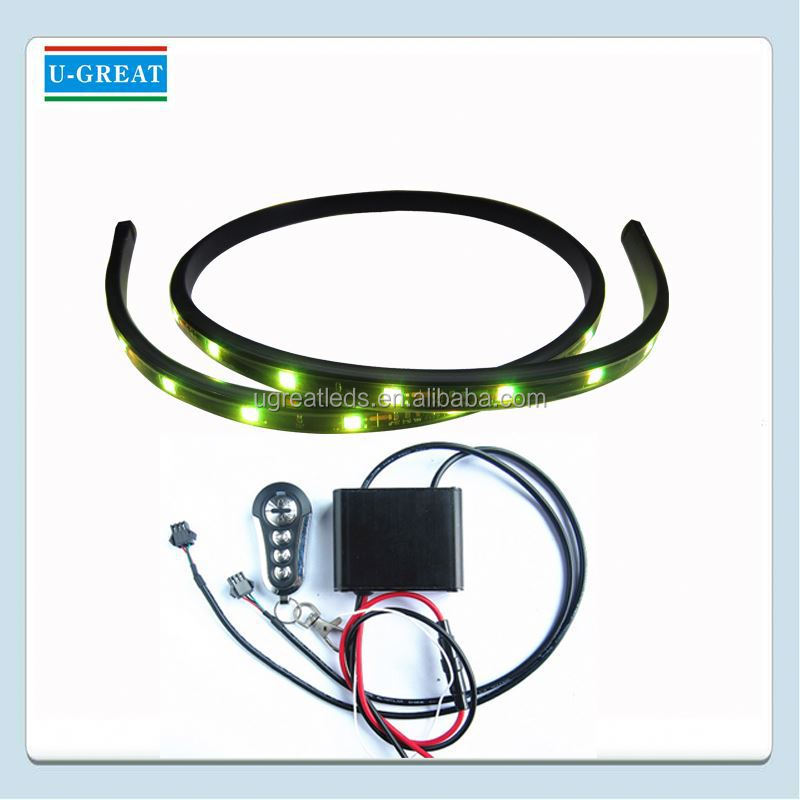 Remote control addressable peelable decorative flashing lights