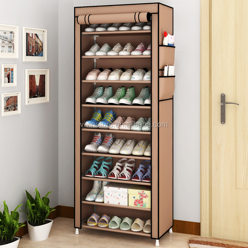 Shoe Rack for 36 Pairs of Shoes Standing Storage Organizer Shelf with Dust proof Cover