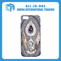 National restoring ancient ways eagle wings rhinestone cell phone cases
