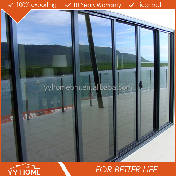 High quality powder coating competitive sliding glass door / corner wardrobe sliding door fittings