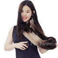 CX-S-158C American And European Winter Genuine Mink Fur Fashion Knitted Scarf Women