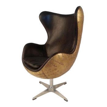 Aviator egg chair commercial furniture - Aviator Arne Jacobsen Spitfire Vintage Egg Chair Aluminium Plated