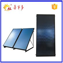 Rooftop high efficiency flat panel solar collector for pool water heater