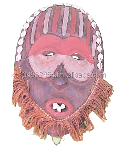 Wood carved African tribal mask