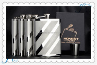 2015 high quality 18/8 stainless steel metal flask, 8oz matt finish hip flask, Whisky bottle