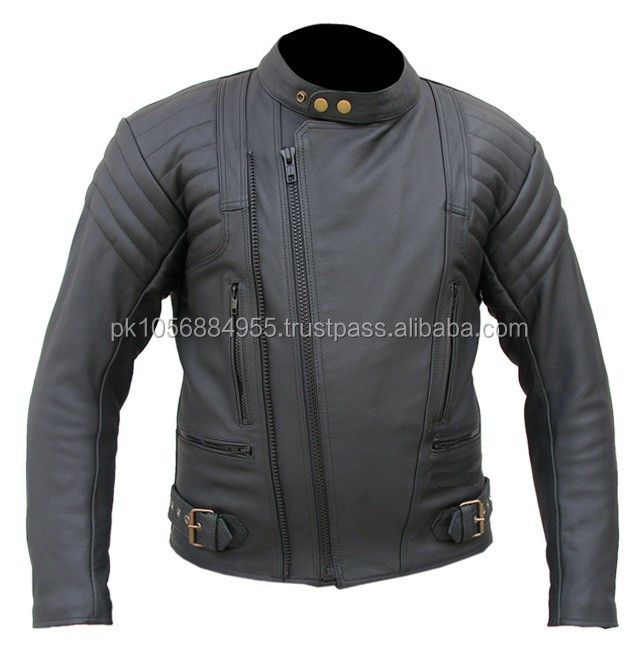 Hot Sale 2014 Printing Motorcycle Leather Jackets for Men
