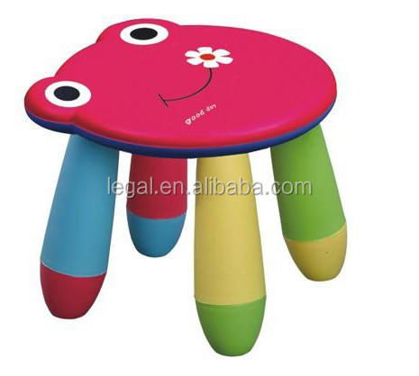 New Style Beautiful Children table chair Furniture Popular durable colorful plastic round kid's chair stool