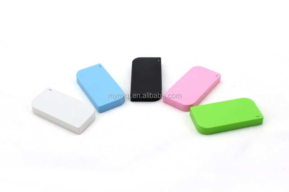 MIQ Slim square 2600mah mini power bank for mobile phones best gifts