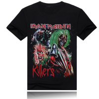 rock bands iron maiden t shirt for men of cotton
