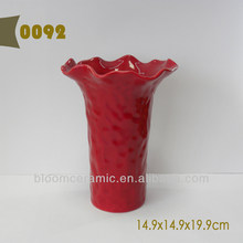 Ceramic decorative floral vases