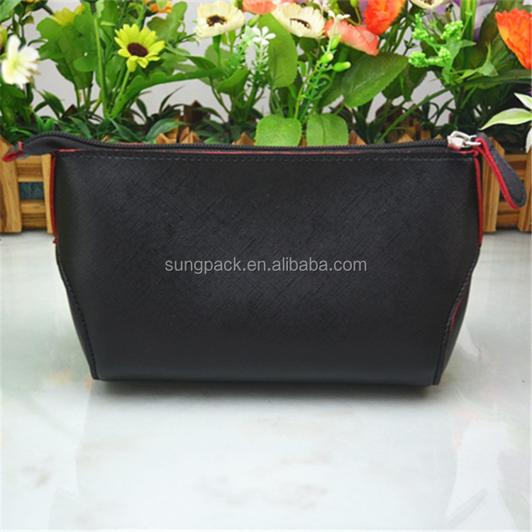 New Fashion Custom Travel Cosmetic Bag in PU Leather Make Up Toiletry Bag