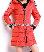 Ladies fashion down long winter jacket down from china