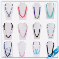 2017 Fashion Colorful Teething Necklace Amber