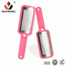 Stainless Steel Foot Scraper with Plastic Handle