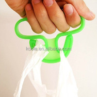 Plastic handy handle for shopping bag