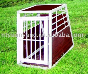 fancy foldable aluminium dog transport cage car kennel