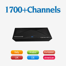 A9 Android 6.0 Smart TV Box S912 Octa Core 4K H.265 WiFi Bluetooth Set-top Box 2G 16G Free HD 1700 IPTV Subscription Channels