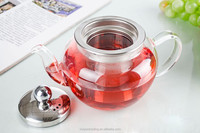 16.9fl.oz/500ml Apple Shape Glass Teapot With Steel Inner container and lid