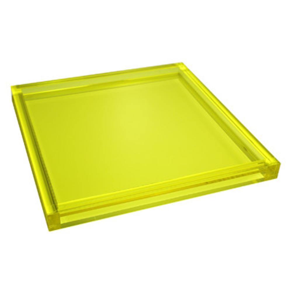 Green Acrylic Multipurpose Tray High Quality Drink Cocktail Acrylic Serving Tray Wholesale