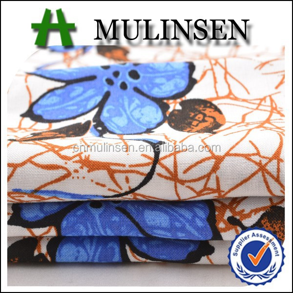 Mulinsen Textile Woven Viscose Challis 100 Rayon Printed Japanese Wholesale Clothing Fabric