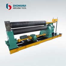 CNC full hydraulic 4 roll bending machine, fully auto 4 roller plate rolling machine
