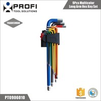Alibaba China Manufacturer 9pcs Color Code chrome vanadium cr-v hex key