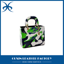 mix color green fashion women handbag OEM ladies women handbag from guangzhou factory