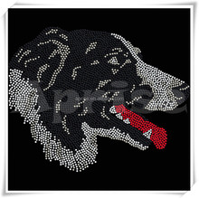 Border Collie Perro rhinestone dog motif hot fix