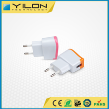 fast 5v 1a EU plug colorful travel wall usb charger for mobile phone