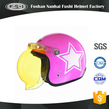 Low price pink full face scooter helmet design open face helmets motorbike for women
