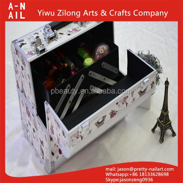 Factory Wholesale high quality durable cosmetics makeup case with customized logo