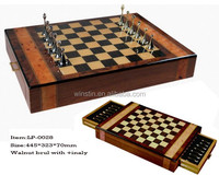 2016 High quality new design handmade inlaid chess board wooden Chess Games