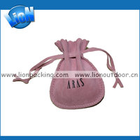 Custom hot new round velvet drawstring pouch bag for bracelet ring necklace