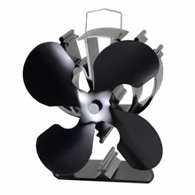 VODA small 4 blade eco heat powered stove top fan for wood/gas/pellet stove