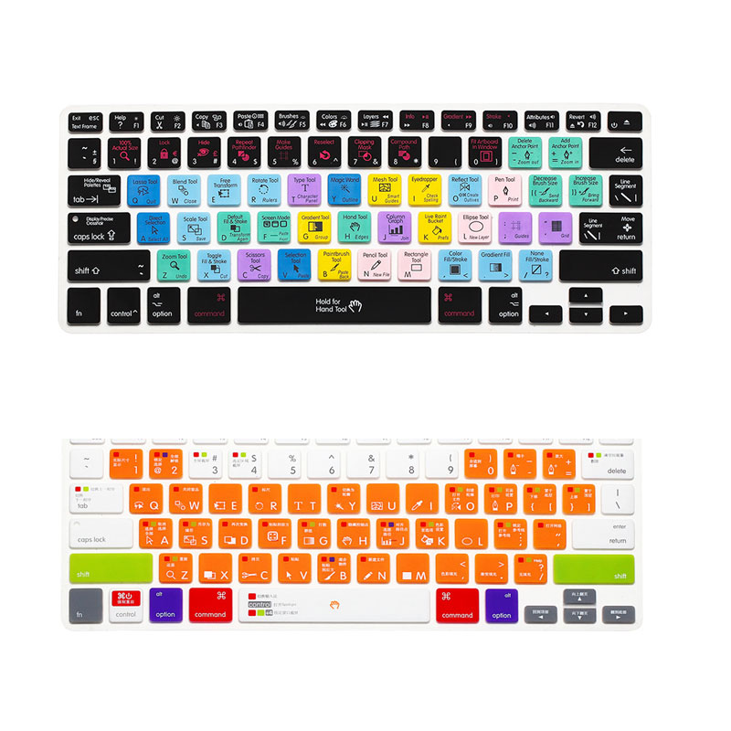 Factory price wholesale Colorful PS /AI Multi-function laptop keyboard cover for asus