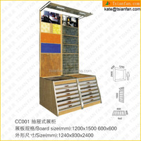 CC001--Wholesale modern stone drawer display rack