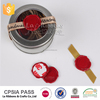 Factory Designed Logo wax seal stamp stickers with ribbon, rope for diy set