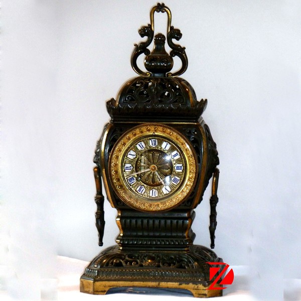 hand carved antique style bronze clocks