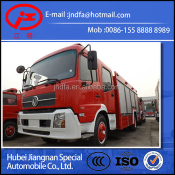 DONGFENG DFL water foam fire fighting truck 6 Ton(JDF5150GXFPM60T Water 5000L foam 1000L)EURO3 4X2 4X4 fire truck 6000L 7000L