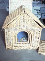 100% Handmade Willow Pet Basket with Lining for Dog