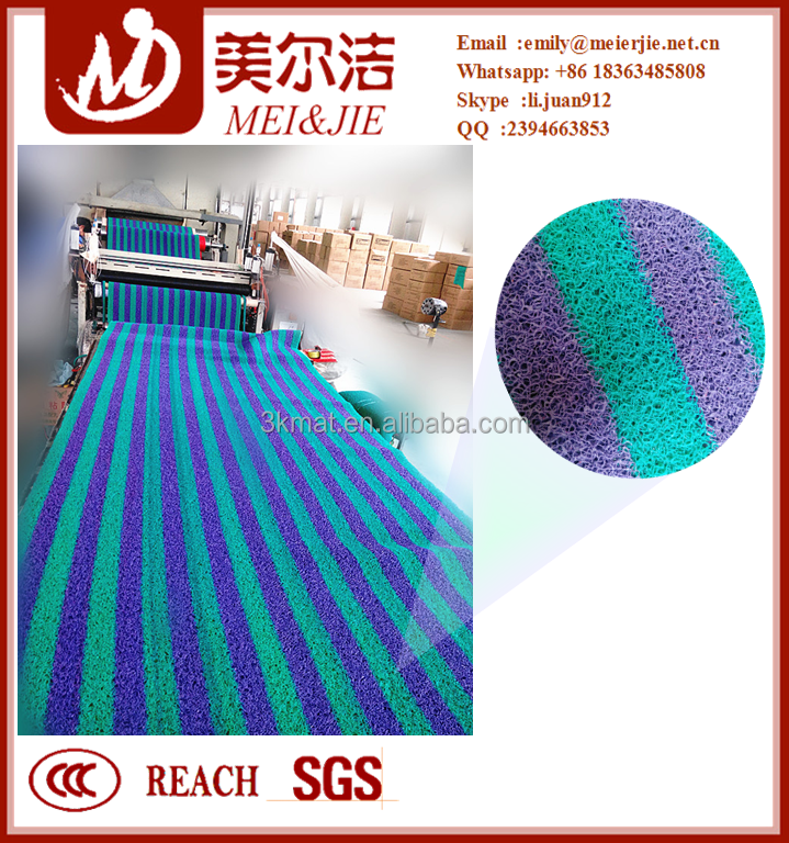 3g double color pvc coil mat coir matting rolls with various shape