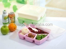plastic container lunch box mess tin with lid with hand