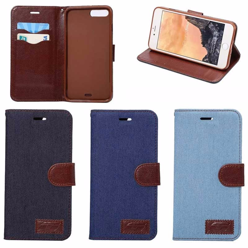 Personalized Jeans Leather mobile Case for iphone 7 Plus