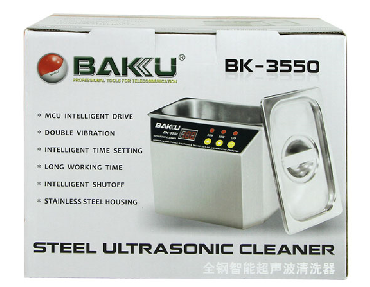 Jewelry Eyeglass Stainless Steel Digital Ultrasonic Blind Cleaner Price For Sale Reasonable Ultra Sonic Cleaner BAKU BK3550