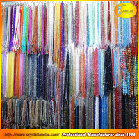 wholesale clear 100 colors U-choose rondelle round spacer beads glass crystal beads Pujiang