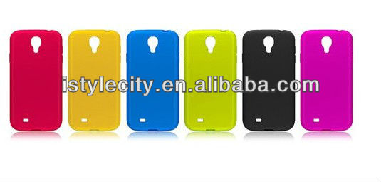 For Samsung Galaxy S4 i9500 Pure Color TPU Skin Case Cover