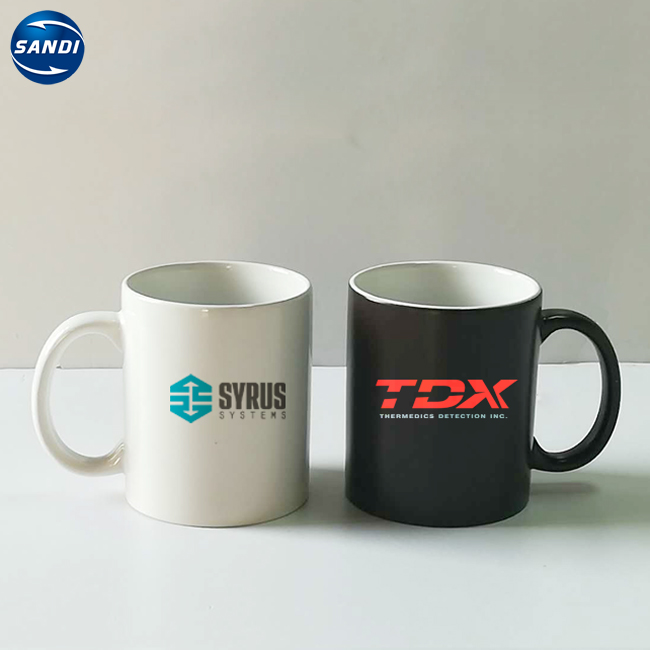 Promotional custom LOGO printed sublimation coffee ceramic mug