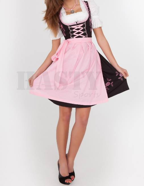 Traditional Garments Women Cotton Polyester Custom Design Trachten Mini Dirndl Dresses 2015 (German,Austria,Netherland Dresses)