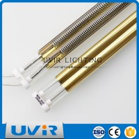 Paint drying twin quartz golden halogen infrared heater