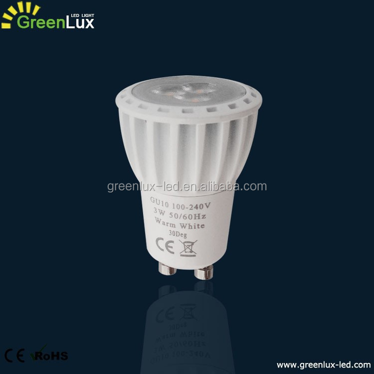 3W MR11 With GU10 base mini led spotlights 35mm diameter led lamp bulbs from China supplier